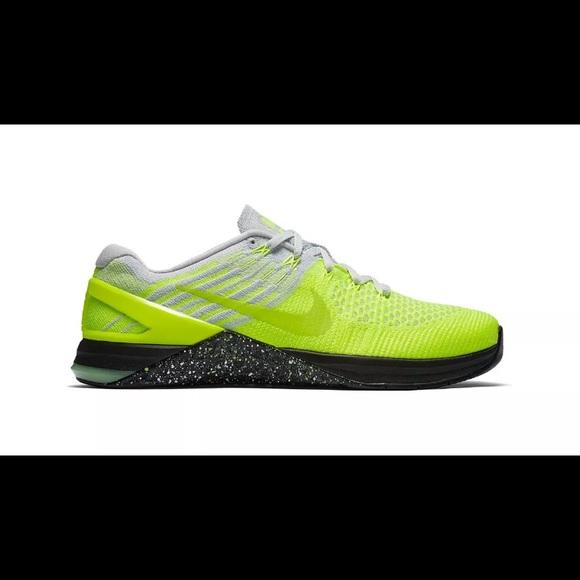 a2712ca4b56b Nike Metcon 3 DSX Flyknit Volt Black CrossFit